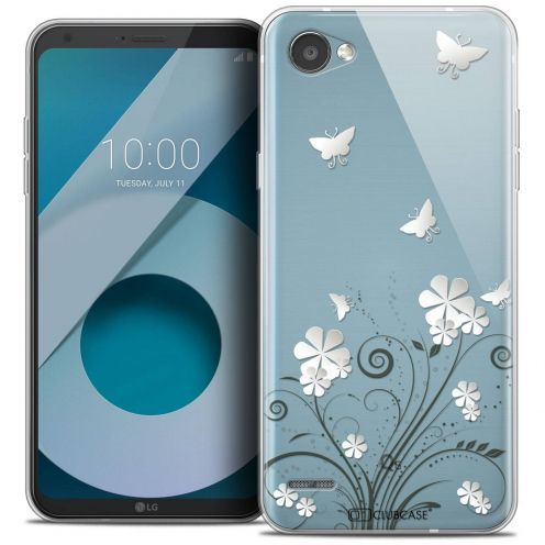 """Coque Crystal Gel LG Q6 (5.5"""") Extra Fine Summer - Papillons"""