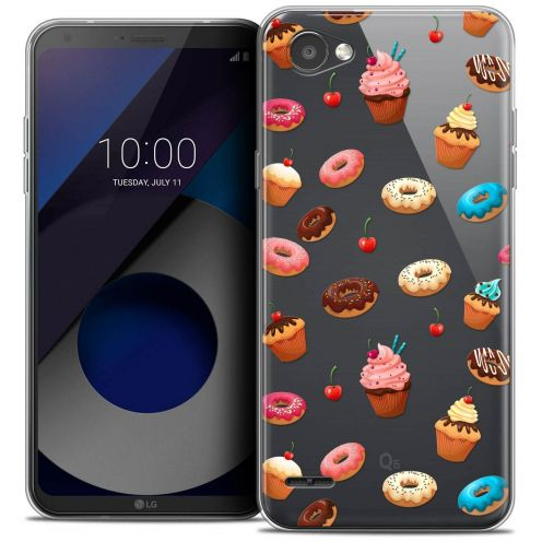 """Coque Crystal Gel LG Q6 (5.5"""") Extra Fine Foodie - Donuts"""
