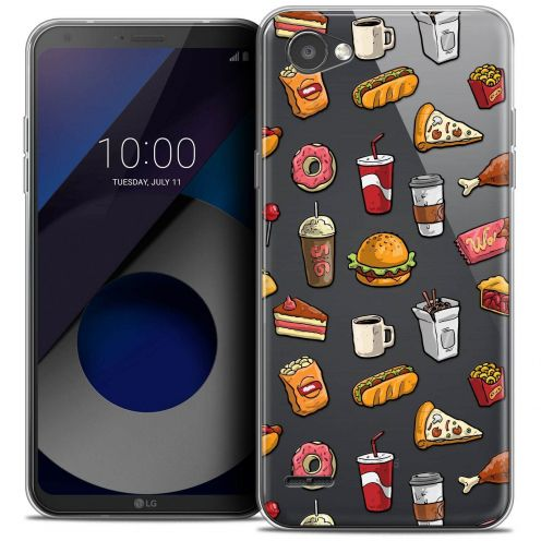 """Coque Crystal Gel LG Q6 (5.5"""") Extra Fine Foodie - Fast Food"""