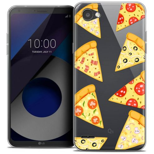 """Coque Crystal Gel LG Q6 (5.5"""") Extra Fine Foodie - Pizza"""