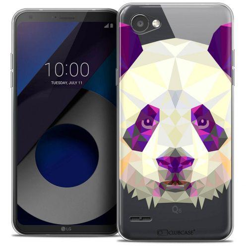 """Coque Crystal Gel LG Q6 (5.5"""") Extra Fine Polygon Animals - Panda"""