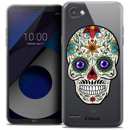 "Coque Crystal Gel LG Q6 (5.5"") Extra Fine Skull - Maria's Flower"