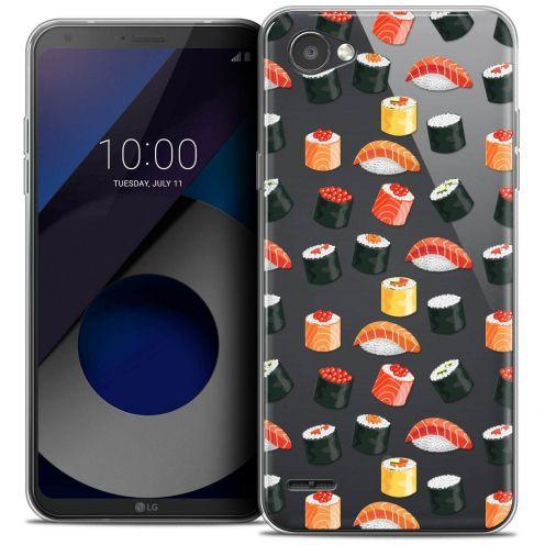 """Coque Crystal Gel LG Q6 (5.5"""") Extra Fine Foodie - Sushi"""