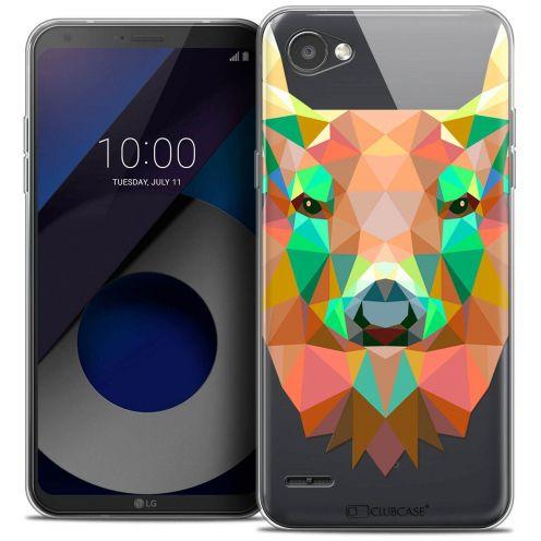 """Coque Crystal Gel LG Q6 (5.5"""") Extra Fine Polygon Animals - Cerf"""