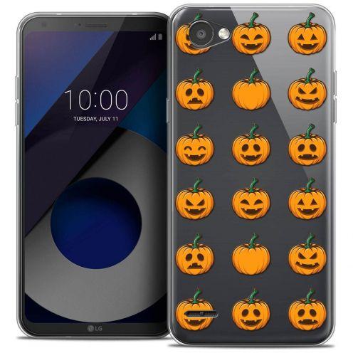 "Coque Crystal Gel LG Q6 (5.5"") Extra Fine Halloween - Smiley Citrouille"