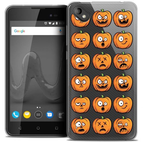 "Coque Crystal Gel Wiko Sunny 2 PLUS (5"") Extra Fine Halloween - Cartoon Citrouille"