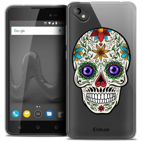 "Coque Crystal Gel Wiko Sunny 2 PLUS (5"") Extra Fine Skull - Maria's Flower"