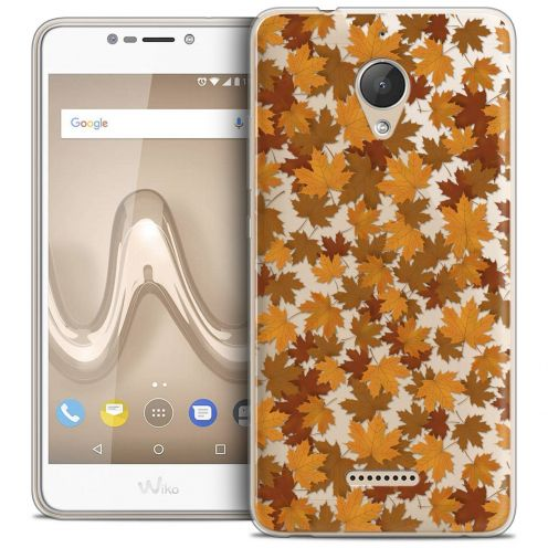 "Coque Crystal Gel Wiko Tommy 2 PLUS (5.5"") Extra Fine Autumn 16 - Feuilles"