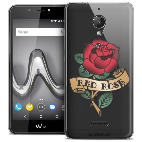 """Coque Crystal Gel Wiko Tommy 2 PLUS (5.5"""") Extra Fine Tatoo Lover - Red Rose"""