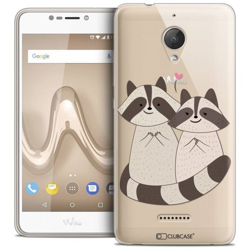 "Coque Crystal Gel Wiko Tommy 2 PLUS (5.5"") Extra Fine Sweetie - Racoon Love"
