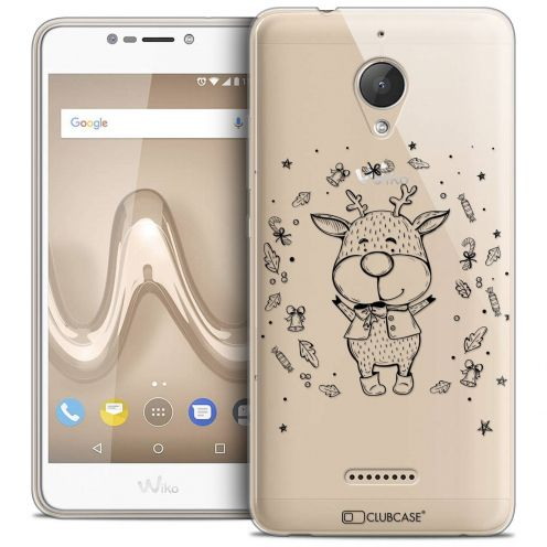 "Coque Crystal Gel Wiko Tommy 2 PLUS (5.5"") Extra Fine Noël 2017 - Sketchy Cerf"