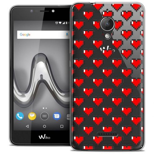 "Coque Crystal Gel Wiko Tommy 2 PLUS (5.5"") Extra Fine Love - Pixel Art"