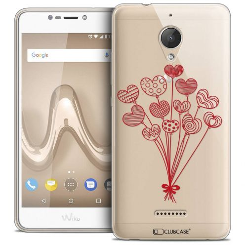 "Coque Crystal Gel Wiko Tommy 2 PLUS (5.5"") Extra Fine Love - Ballons d'amour"