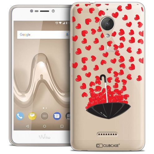 "Coque Crystal Gel Wiko Tommy 2 PLUS (5.5"") Extra Fine Love - Parapluie d'Amour"