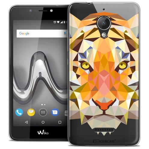 "Coque Crystal Gel Wiko Tommy 2 PLUS (5.5"") Extra Fine Polygon Animals - Tigre"