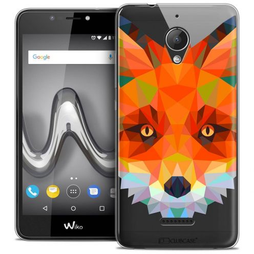 "Coque Crystal Gel Wiko Tommy 2 PLUS (5.5"") Extra Fine Polygon Animals - Renard"