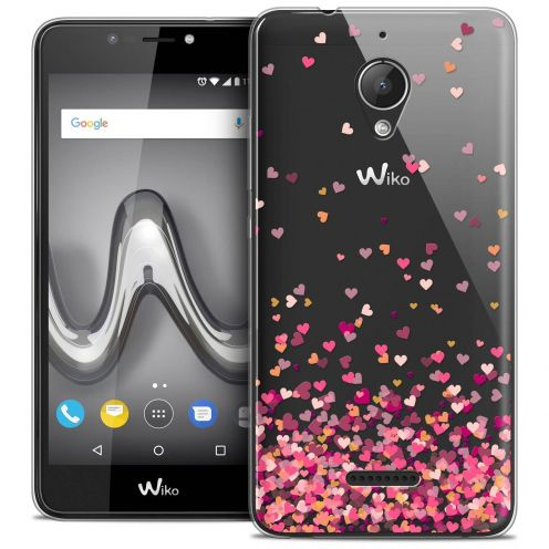 "Coque Crystal Gel Wiko Tommy 2 PLUS (5.5"") Extra Fine Sweetie - Heart Flakes"