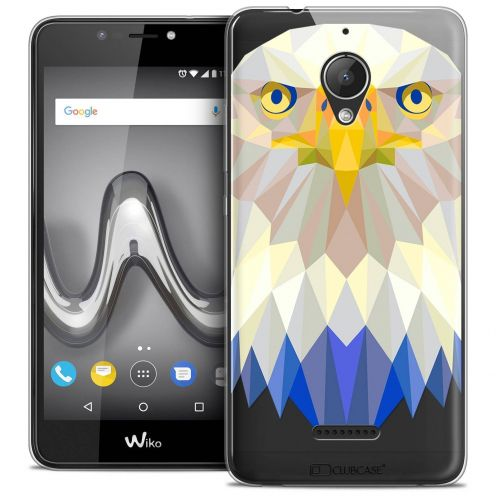 "Coque Crystal Gel Wiko Tommy 2 PLUS (5.5"") Extra Fine Polygon Animals - Aigle"