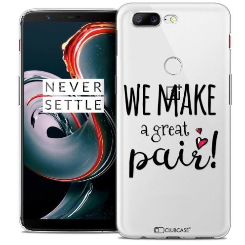 """Coque Crystal Gel OnePlus 5T (6"""") Extra Fine Love - We Make Great Pair"""