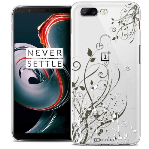 "Coque Crystal Gel OnePlus 5T (6"") Extra Fine Love - Hearts Flowers"