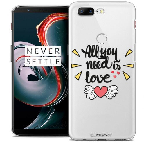 "Coque Crystal Gel OnePlus 5T (6"") Extra Fine Love - All U Need Is"
