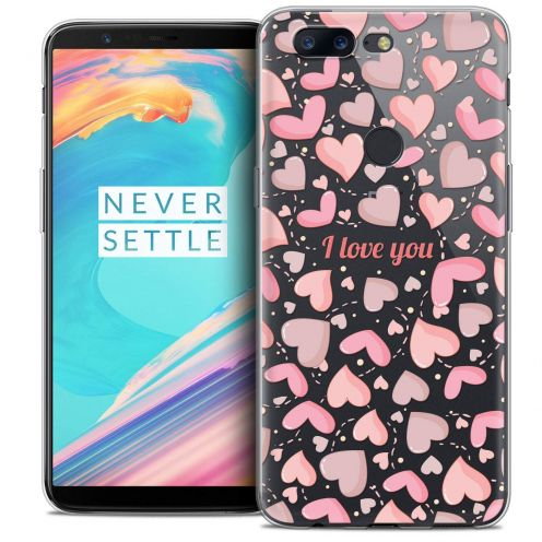 "Coque Crystal Gel OnePlus 5T (6"") Extra Fine Love - I Love You"