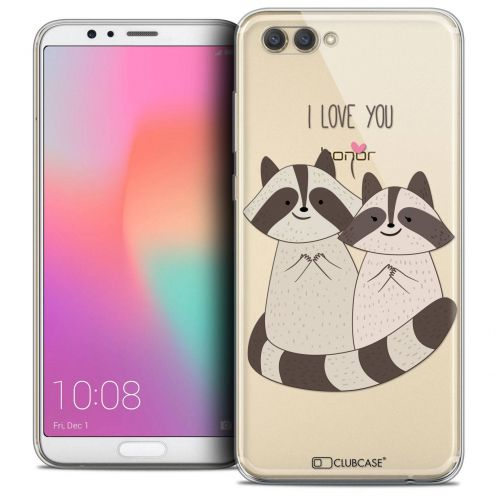 """Coque Crystal Gel Honor View 10 / V10 (6"""") Extra Fine Sweetie - Racoon Love"""