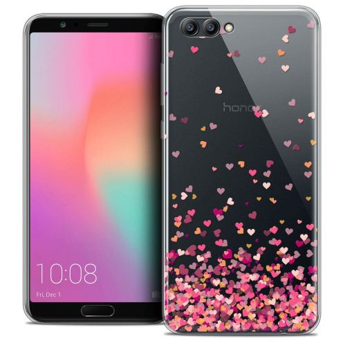 """Coque Crystal Gel Honor View 10 / V10 (6"""") Extra Fine Sweetie - Heart Flakes"""