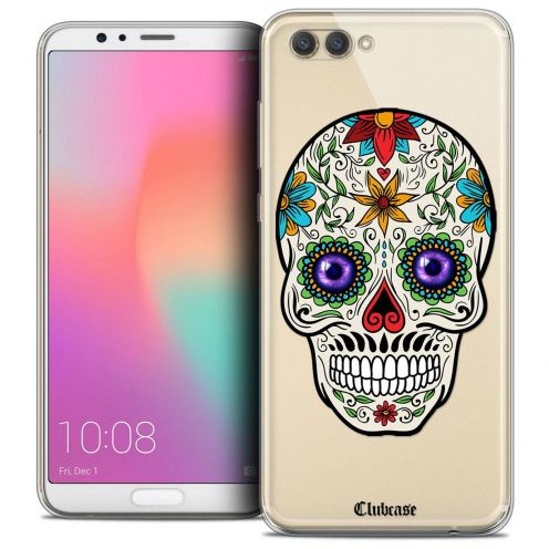"""Coque Crystal Gel Honor View 10 / V10 (6"""") Extra Fine Skull - Maria's Flower"""