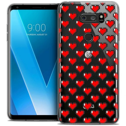 "Coque Crystal Gel LG V30 (6"") Extra Fine Love - Pixel Art"