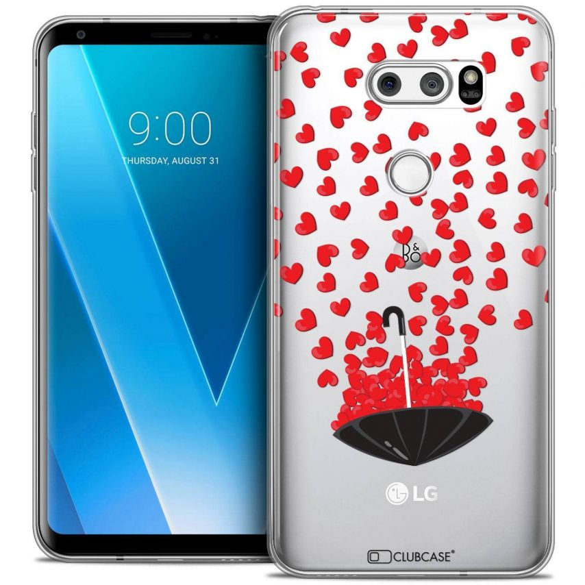 "Coque Crystal Gel LG V30 (6"") Extra Fine Love - Parapluie d'Amour"