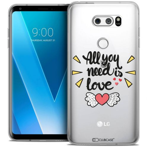 "Coque Crystal Gel LG V30 (6"") Extra Fine Love - All U Need Is"