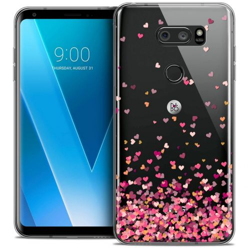 "Coque Crystal Gel LG V30 (6"") Extra Fine Sweetie - Heart Flakes"