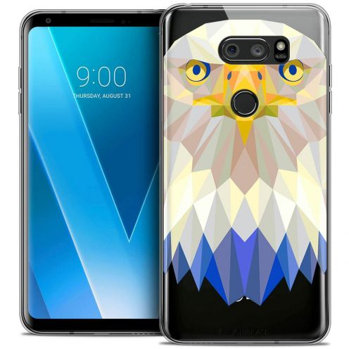 "Coque Crystal Gel LG V30 (6"") Extra Fine Polygon Animals - Aigle"