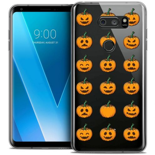 "Coque Crystal Gel LG V30 (6"") Extra Fine Halloween - Smiley Citrouille"