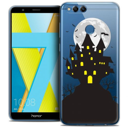 "Coque Crystal Gel Honor 7X (5.9"") Extra Fine Halloween - Castle Scream"