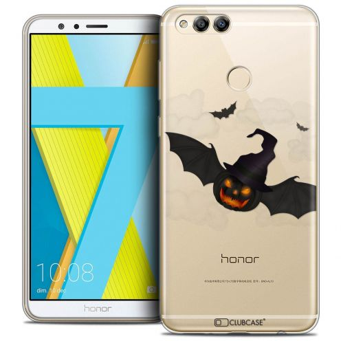 """Coque Crystal Gel Honor 7X (5.9"""") Extra Fine Halloween - Chauve Citrouille"""