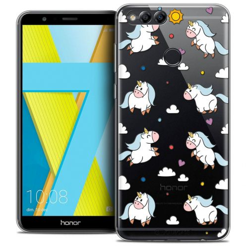 """Coque Crystal Gel Honor 7X (5.9"""") Extra Fine Fantasia - Licorne In the Sky"""