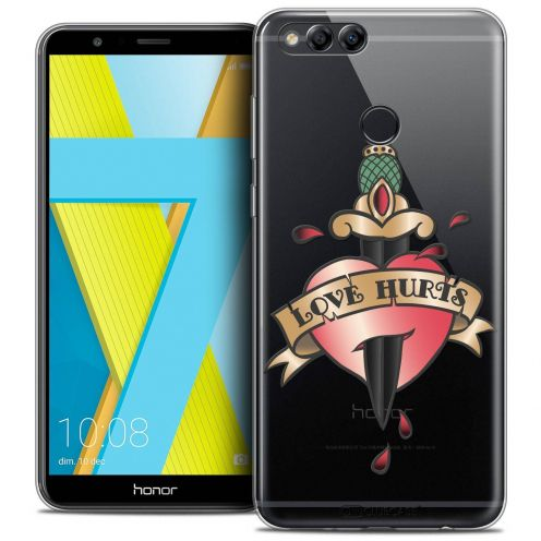 """Coque Crystal Gel Honor 7X (5.9"""") Extra Fine Tatoo Lover - Love Hurts"""