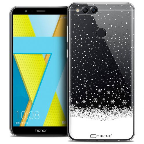 "Coque Crystal Gel Honor 7X (5.9"") Extra Fine Noël 2017 - Flocons de Neige"