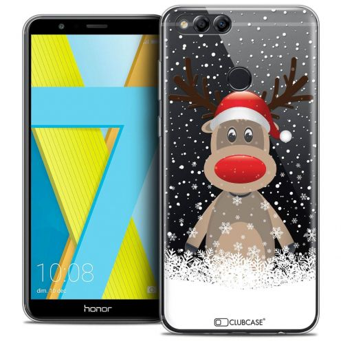 "Coque Crystal Gel Honor 7X (5.9"") Extra Fine Noël 2017 - Cerf au Bonnet"