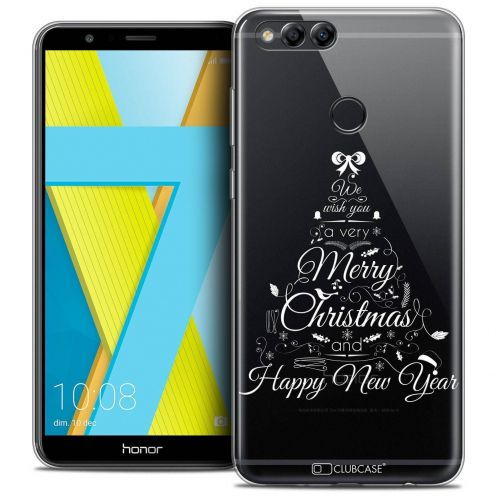 """Coque Crystal Gel Honor 7X (5.9"""") Extra Fine Noël 2017 - Calligraphie"""