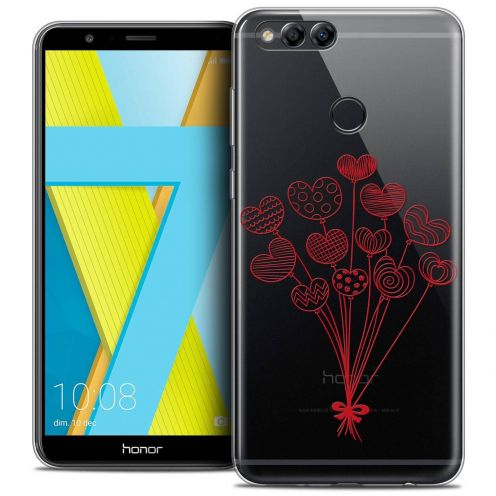 """Coque Crystal Gel Honor 7X (5.9"""") Extra Fine Love - Ballons d'amour"""