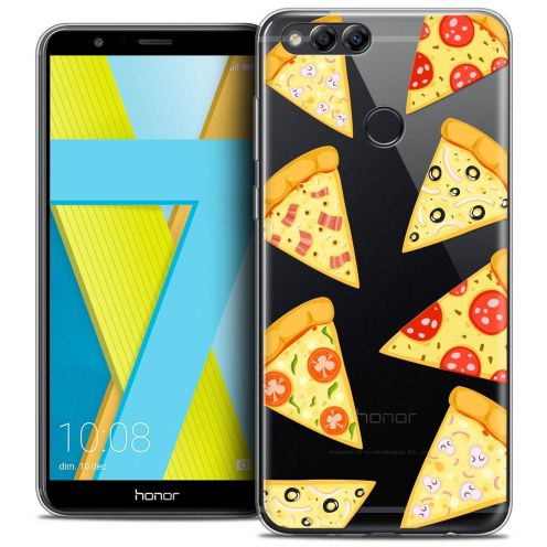"""Coque Crystal Gel Honor 7X (5.9"""") Extra Fine Foodie - Pizza"""