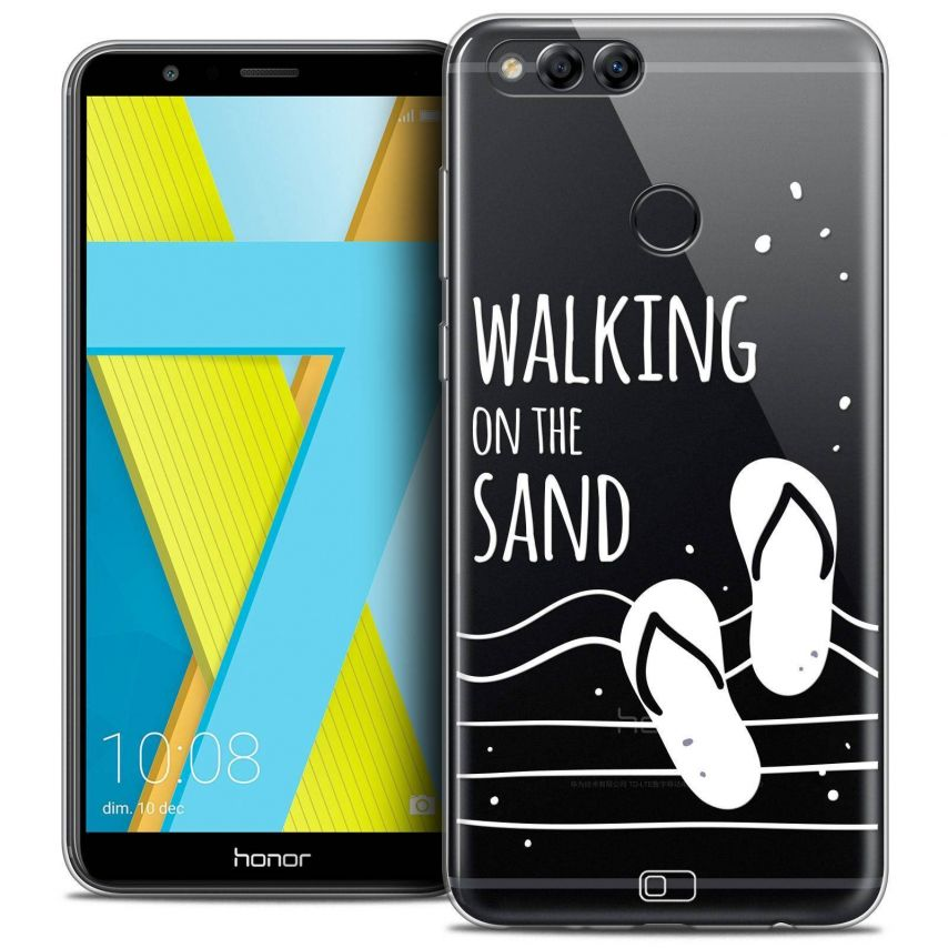 """Coque Crystal Gel Honor 7X (5.9"""") Extra Fine Summer - Walking on the Sand"""