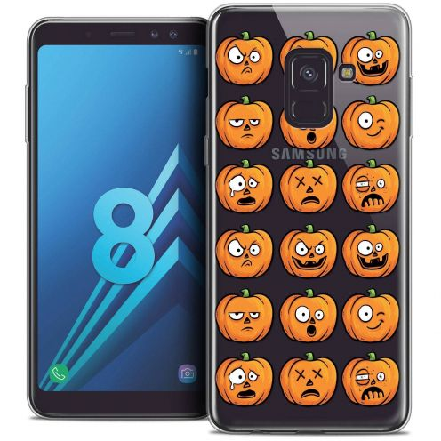 "Coque Crystal Gel Samsung Galaxy A8 (2018) A530 (5.6"") Extra Fine Halloween - Cartoon Citrouille"