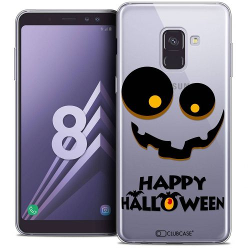 "Coque Crystal Gel Samsung Galaxy A8 (2018) A530 (5.6"") Extra Fine Halloween - Happy"