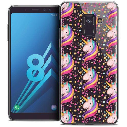 """Coque Crystal Gel Samsung Galaxy A8 (2018) A530 (5.6"""") Extra Fine Fantasia - Licorne Etoilée"""
