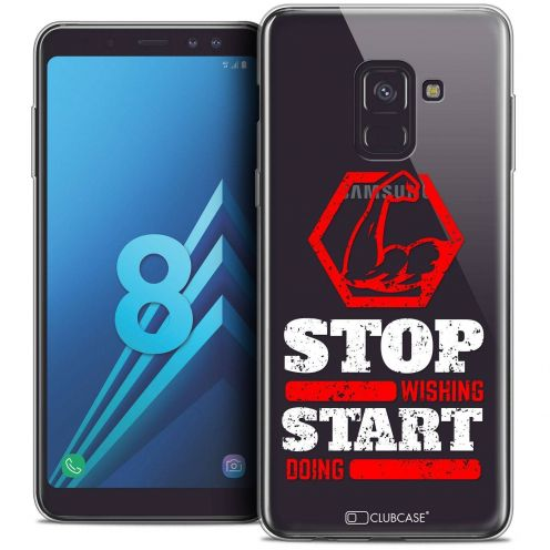 """Coque Crystal Gel Samsung Galaxy A8 (2018) A530 (5.6"""") Extra Fine Quote - Start Doing"""