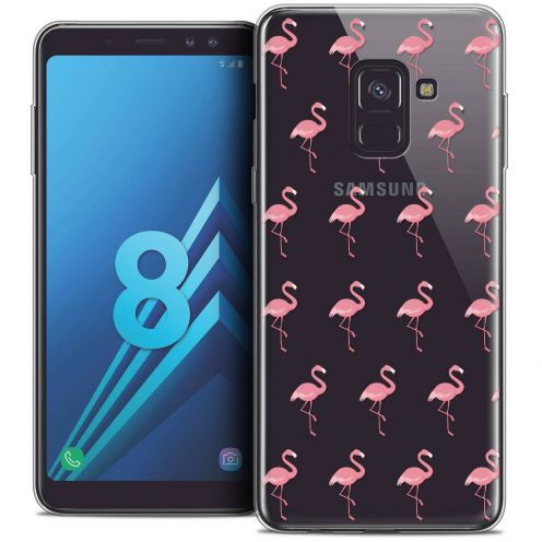 "Coque Crystal Gel Samsung Galaxy A8 (2018) A530 (5.6"") Extra Fine Pattern - Les flamants Roses"